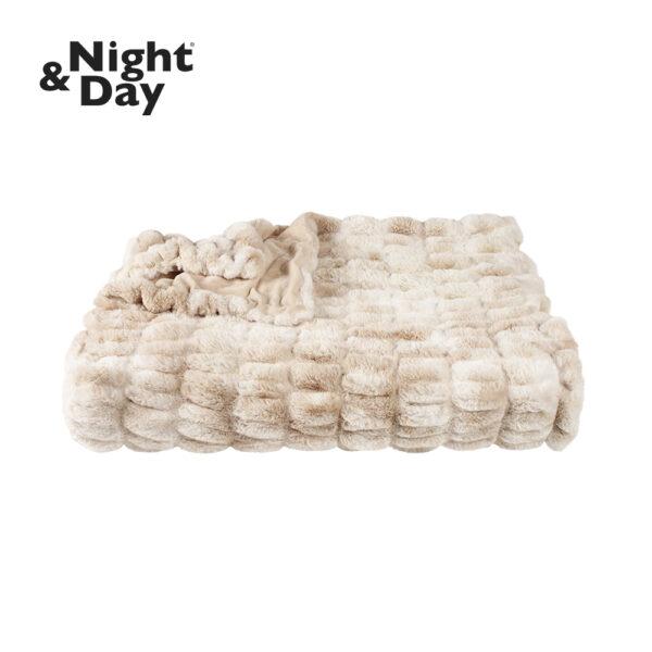 Plaid BONNIE i imiteret pels - Night & Day